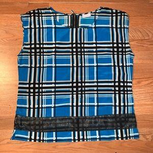 NY&CO Chiffon plaid blouse